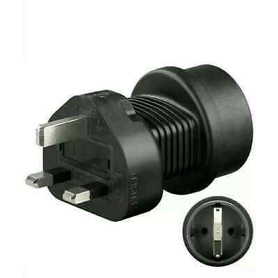 UK to EU Power Adapter - Safety Shucko Socket Type F CEE 7/4 Type G BS 1363