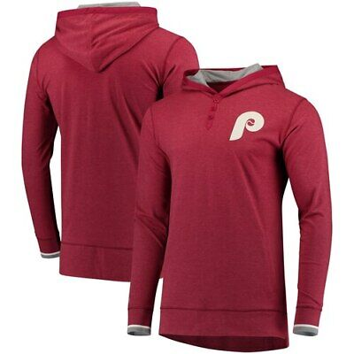 52e7dbf321b Philadelphia Phillies Mitchell & Ness Seal The Win Long Sleeve Hooded T- Shirt -