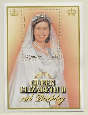 GAMBIA -2001 75th BIRTHDAY QUEEN ELIZABETH MINIATURE SHEET SG 4087