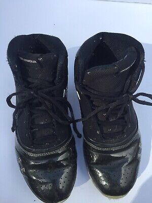 96fb02060ad9 Under Armour Kids Youth Boys Size 5.5Y Black Athletic Shoes Lace Up High Top