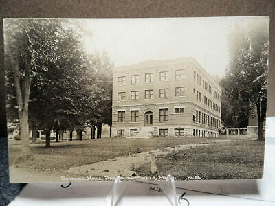 1910 RPPC Photo Postcard Science Hall Shelburne Falls Mass MA