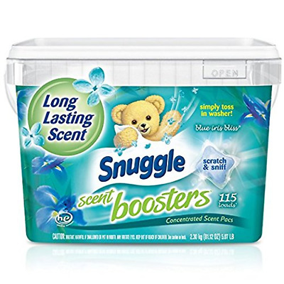 Snuggle Laundry Scent Boosters Concentrated Scent Pacs, Blue Iris Bliss, Tub,