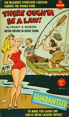 There Oughta Be a Law! Fagaly & Shorten Midwood #68 Cartoon Sleaze Paperback