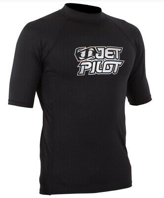 Lycra paddle, jetski, wake Logo Rash Guard Men Black - taille S - JetPilot