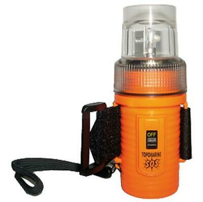 Lampe flash 4-LED étanche orange paddle/jetski- Topoplastic