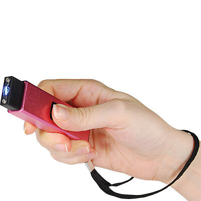 MINI POLICE Self Defense Stun Gun PINK KEYCHAIN Recharge LED Flashlight Women