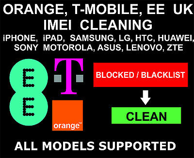 EE Orange T-Mobile UK Cleaning, Unbarring Service, iPhone, Samsung, LG, Sony