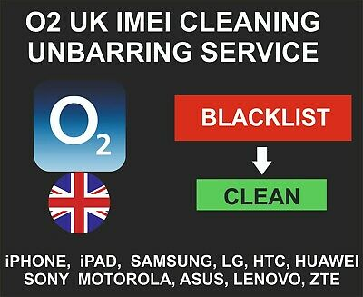 O2 UK Cleaning, Unbarring Service, iPhone, Samsung, LG, Sony, HTC, Motorola