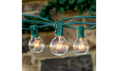 10' Patio String Lighting Clear Globe Light Bulbs Included Incandescent C-7 E12