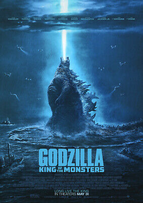 GODZILLA KING OF THE MONSTERS 2019 Movie Cinema Poster Film Art Print A4 A3
