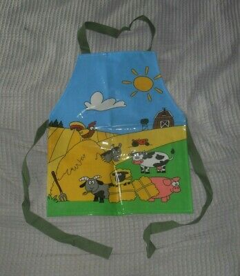 Shreds Childs Apron Farm Scene