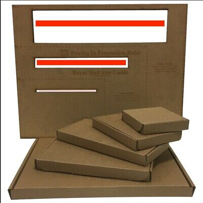 Brown PIP Boxes- Royal Mail - Size C4/A4, C5A5, C6/A6, DL - Fast & Free delivery