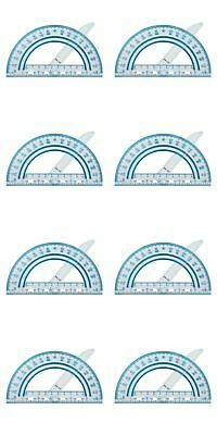 8 Pack Fiskars Plastic Swing Arm Protractor