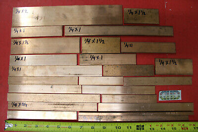 """24 Pieces 1/8"""", 1/4"""" C110 COPPER BAR Solid Flat Mill Bus Bar Stock 8.4 Lbs"""