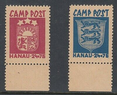 LATVIA & ESTONIA Displaced Persons Camp labels, Unused, no gum
