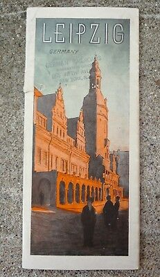 GERMANY Leipzig vintage fold-out brochure ca 1932 in English Railroads buildings