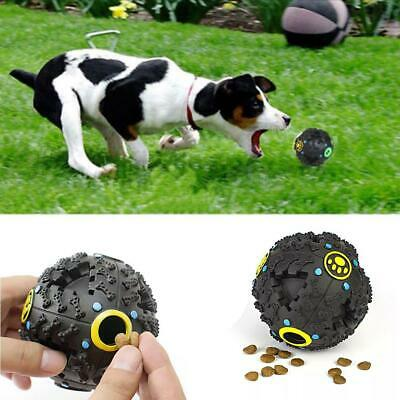 New Dogs Leak the Ball Trumpet Sound Leakage Food Ball Dog Toy Pet Chew T9G1