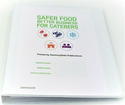 2019 Safer Food Better Business SFBB Caterers Pack & 13 Month Diary Card & Paper