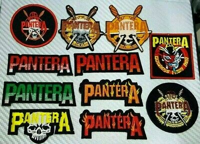 PANTERA COWBOYS HELL ROCK MUSIC METAL WOVEN Embroidered Iron Sew On Patch Logo