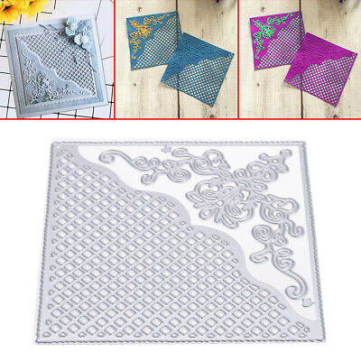 Grid Background Square Frame Metal Cutting Dies Stencil DIY Scrapbooking Paper