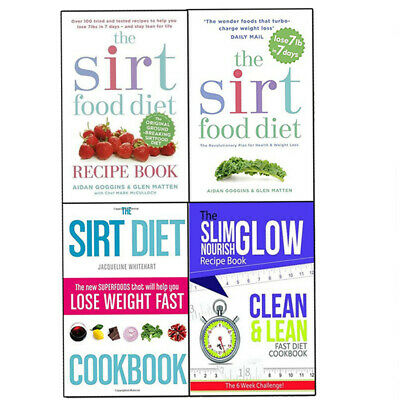 Sirtfood Diet Collection 4 Books Set Diet Plans, Recipe Cookbook,Lose Weight NEW