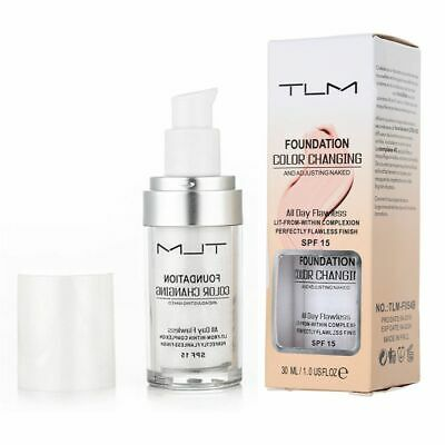 TLM Flawless Colors Changing Foundation Makeup Base Face Liquid Cover Concealer