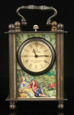 China Collectible Hand-Carved Exquisite Retro Bronze Clock Ornaments