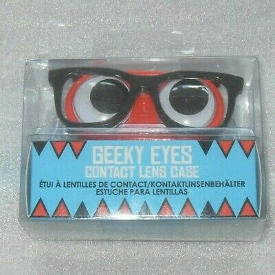 Geeky Eye Contact Lens Case - RED / BLACK GLASSES