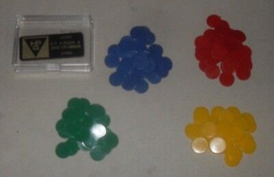Counters, 15 mm diameter, Tiddlywinks / Board Games, teaching aid, 4 colours