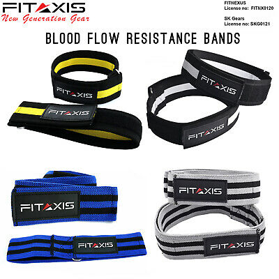 FITAXIS Pair of Blood Flow Restriction Occlusion Training Arm Leg Fitness Straps