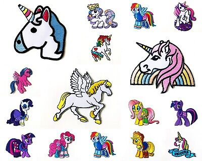 UNICORN Horse Cute Animal Cartoon Sew/Iron On Patch Embroidered Applique