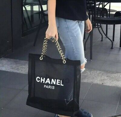 86432c566bd2 BRAND NEW VIP Gift Chanel Mesh Bag With Gold Furniture - £45.00 ...