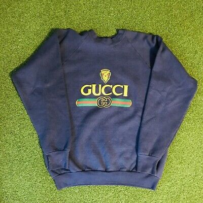 aab39e856cb VINTAGE BOOTLEG GUCCI Sweatshirt Crewneck M Sweater RED MEDIUM ...