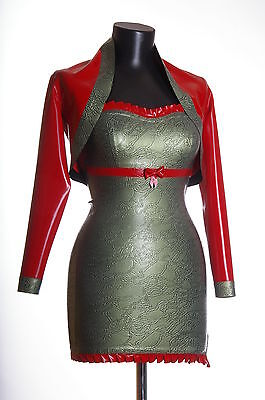 Rubber Latex Damen Minikleid Mit Bolero Gr.xs-Xxl