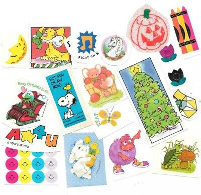 Lot of 15++ Vintage 80's Stickers (A)