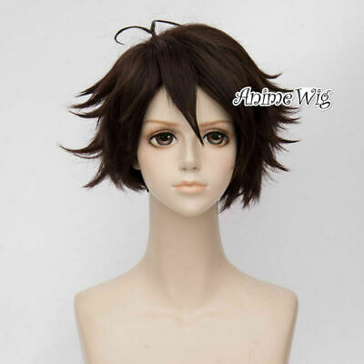 30CM Anime Wavy Brown Short Synthetic UK Stock Heat Resistant Cosplay Wig+Cap