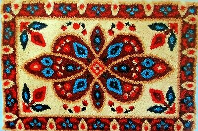 "New Design Latch Hook Rug Kit  ""Traditional Maroon Rug"""