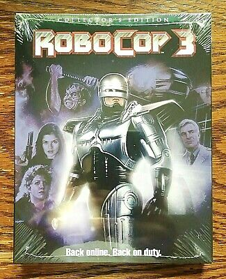 Robocop 3 Blu-ray NEW Sealed Collectors Edition SLIPCOVER Scream Factory