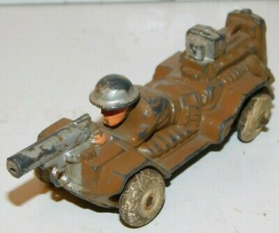 Old MANOIL 1930s Lead Dimestore, Motorized Machine Gunner Car, #M80, 1 Piece