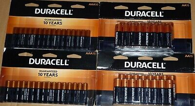 Duracell Copper Top Alkaline 1.5v AA & AAA Batteries Combo 4 x 16 Pack 64 Count