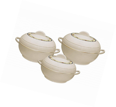Insulated Serving Dishes with Lids - 3pc Ambiente Thermal Hot Food Containers Se
