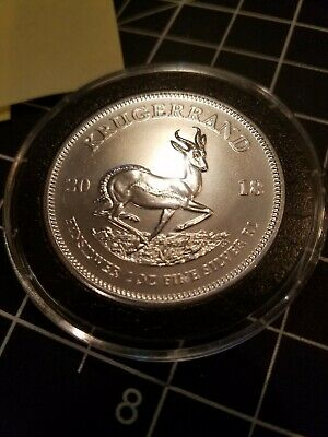 2018 Silver Krugerrand 1 oz South African Coin | First BU Release