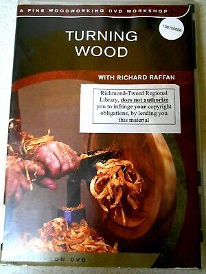TURNING WOOD with RICHARD RAFFAN DVD  Woodworking Crafts-Region 4 Aust/NTSC