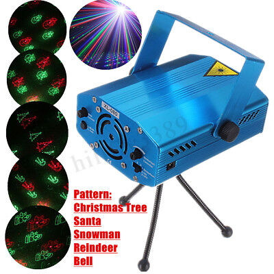 6 in 1 LED Laser Projector R&G DJ Disco Light Stage Lighting Xmas Party Club KTV
