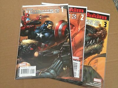 Ultimates 3 #1 #2 and #3 F/VF/NM+ Captain America Thor Iron Man Variant Cover