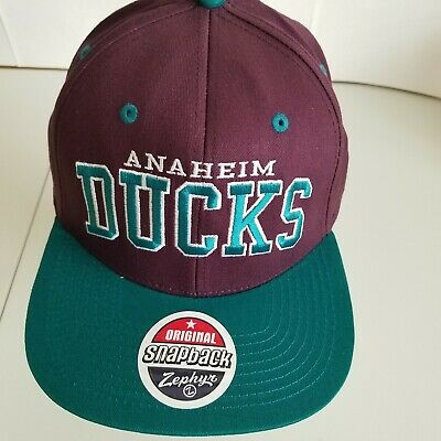 Anaheim Ducks Hat snapback Zephyr NHL hockey mighty purple green Z original