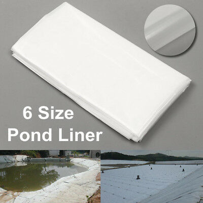 2m/6.5ft White Fish Pond Liner Garden Pool HDPE Membrane Reinforced Landscaping