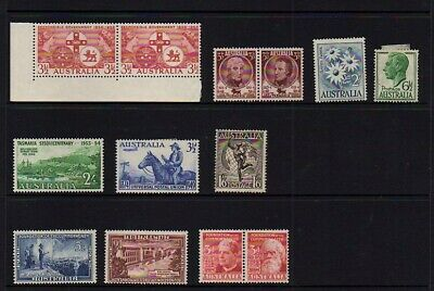 Australia Pre Decimal Stamps All Mint