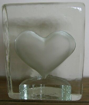 Glass Heart..ornament/Paperweight