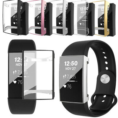 Multiple Color Soft Case Cover TPU Full Screen Protector Case For Fitbit Charge3